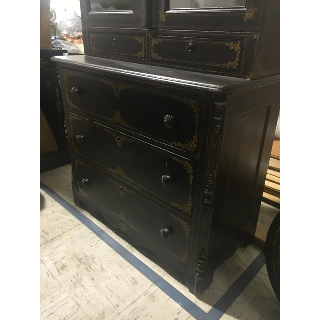 Paint American 19th Century Cupboard With Original Paint For Sale - Image 7 of 7