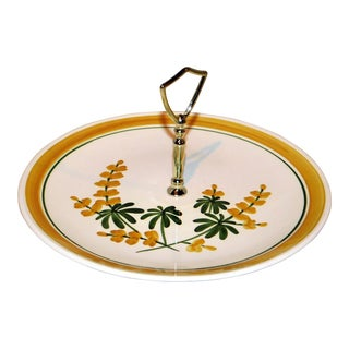 Yellow Floral Stangl Sandwich Plate For Sale