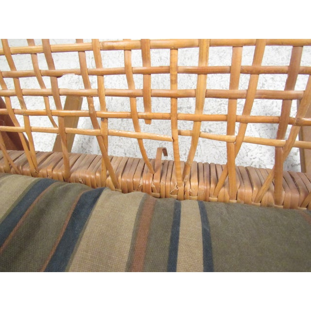 Scandinavian Modern Teak and Cane Rocking Chair by Hans Olsen For Sale - Image 12 of 13