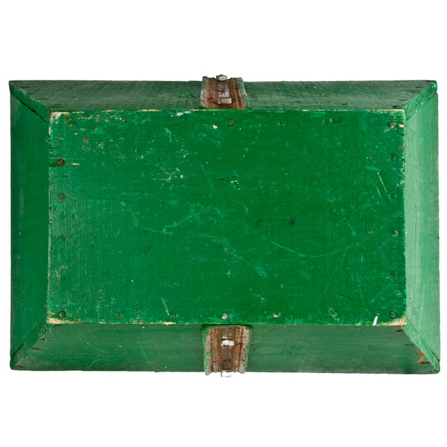 Vintage French Green Gardening Trug - Image 6 of 6