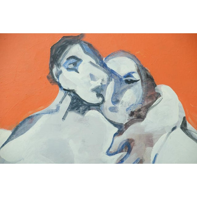 """The Lovers"" Painting by Jean Georges Chape For Sale - Image 4 of 5"