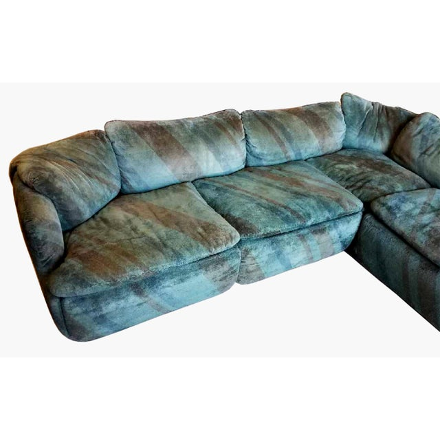 "1970s ""Confidential"" Sectional Sofa by Alberto Rosselli For Sale - Image 5 of 6"