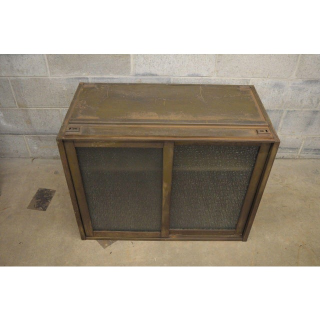 Industrial Remington Rand Industrial Green Steel Metal Stacking Barrister Storage Cabinet A For Sale - Image 3 of 12