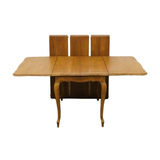 Late 20th Century Vintage Thomasville Furniture Tableau Collection Drop Leaf Dining Table For Sale