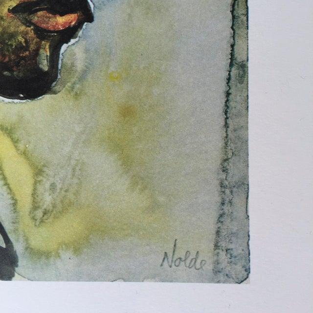 1960s Emile Nolde Watercolor Print - Image 3 of 6