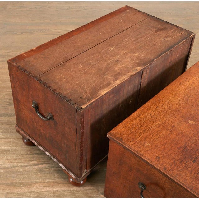 19th Century 19th Century Brass Inlaid Campaign Chest For Sale - Image 5 of 8