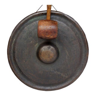19th Century Japanese Bronze Gong For Sale