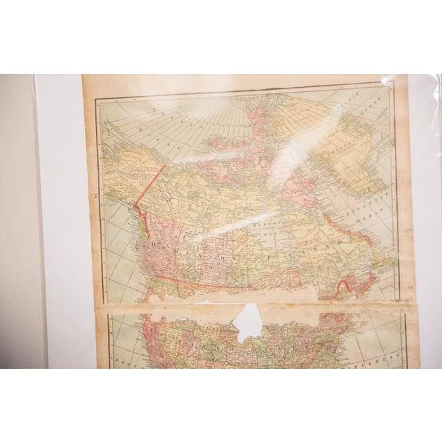 Americana Cram's 1907 Map of North America For Sale - Image 3 of 9