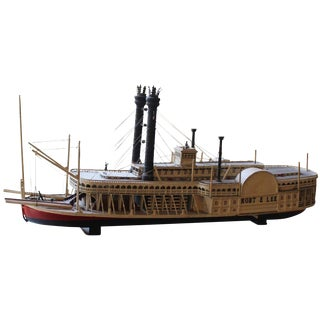 Wooden Model of the Robert E. Lee Ship For Sale