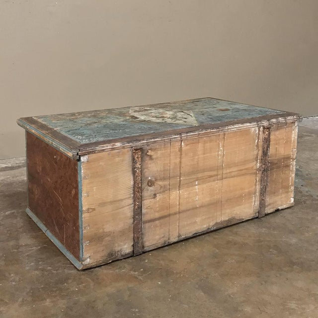 19th Century Rustic Swedish Painted Trunk For Sale - Image 9 of 13