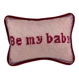 Printed Needlepoint Valentine Nursery Pillow
