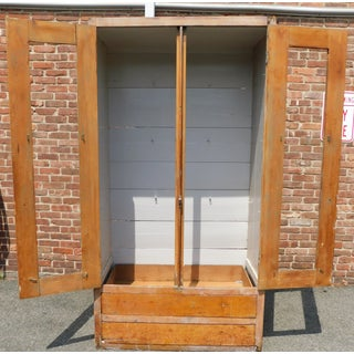 19th C. American Farmhouse Antique Pine Cupboard/Armoire/Cabinet Preview