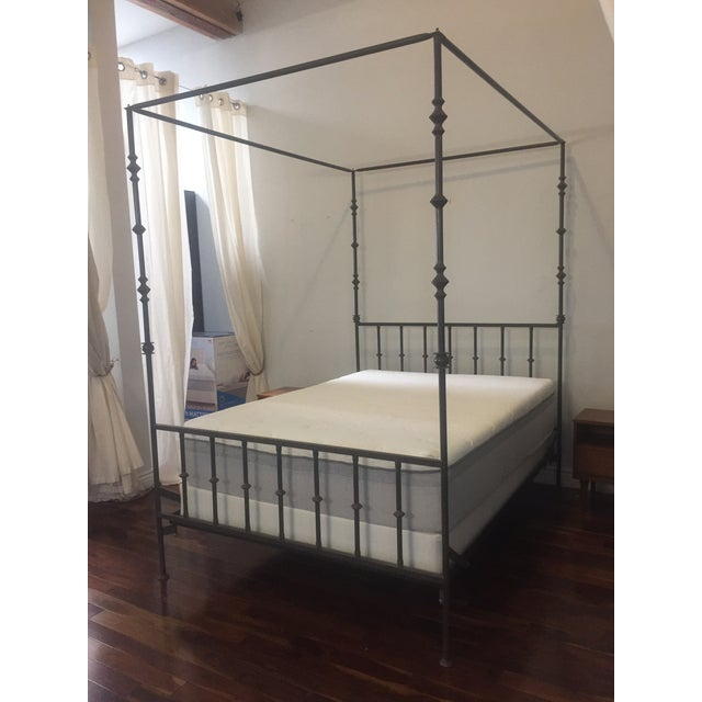 kreiss wrought iron queen canopy bed chairish. Black Bedroom Furniture Sets. Home Design Ideas