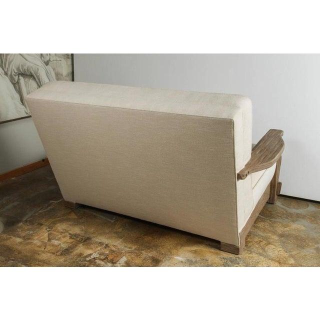 Mid-Century Distressed Oak Sofa - Image 6 of 6
