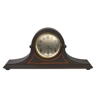 Early 20th Century Seth Thomas Tambour Style Mantel Clock For Sale