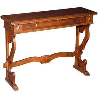 1960s Tuscan Style Diminutive Console Table For Sale