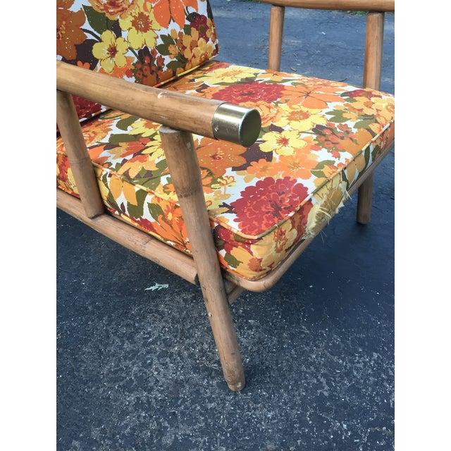Ficks Reed John Wisner for Ficks Reed Rattan Chair For Sale - Image 4 of 5