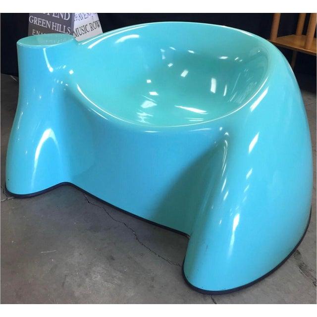 Wendell Castle Blue Fiberglass Chair For Sale In Nashville - Image 6 of 6