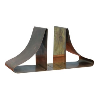 Sarried Ltd. Large Brass Bookends - a Pair For Sale