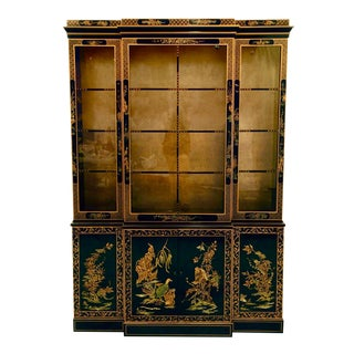 1960s Chinoiserie Henredon China Cabinet or Bar For Sale