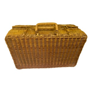 Vintage Wicker Carrier Picnics and More For Sale
