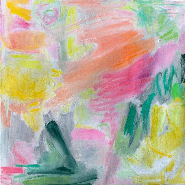 """April Mist"" by Trixie Pitts Abstract Oil Painting For Sale - Image 13 of 13"