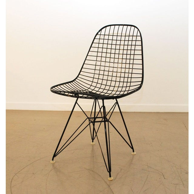 Black Original Eames Wire Chairs - Set of 4 For Sale In Los Angeles - Image 6 of 7