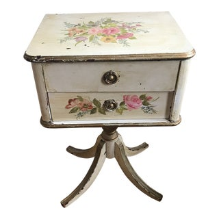1930s Shabby Chic Sewing Cabinet For Sale