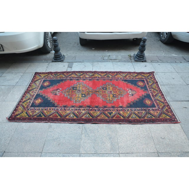 Turkish Handmade Anatolian Carpet - 4′ × 7′1″ - Image 4 of 6