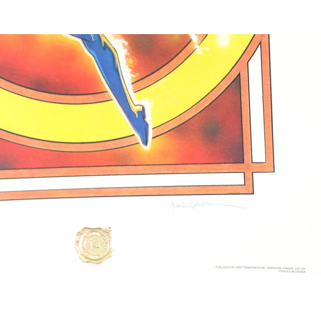Artist: Frank Cirocco Title: The Dazzler Year: 1987 Medium: Offset Lithograph, signed and numbered in pencil Edition:...