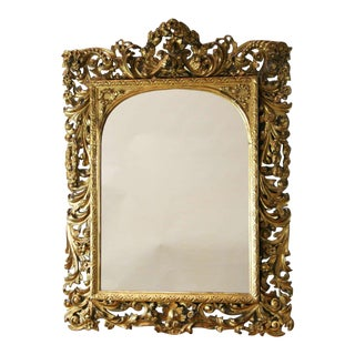 19th Century Italian Carved Giltwood Mirror For Sale