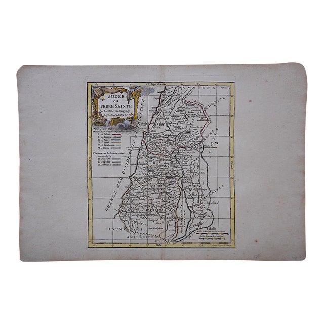 Antique 18th C. Map-Judea For Sale