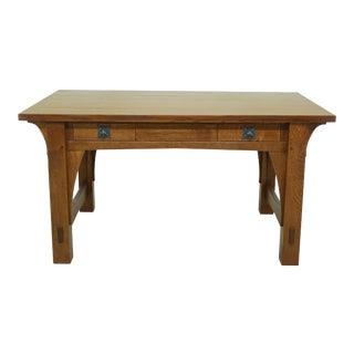 Stickley Mission Oak Large Gustav Design Desk For Sale