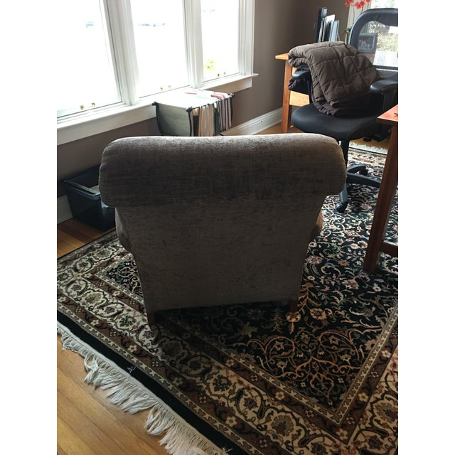 Stickley Furniture Upholstered Maple Chair & Ottoman For Sale - Image 5 of 12