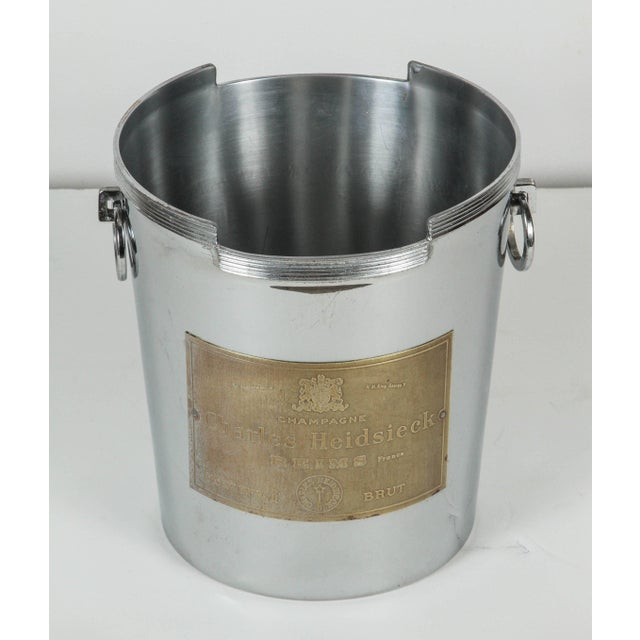 Metal Art Deco American Chrome Champagne Ice Bucket For Sale - Image 7 of 7