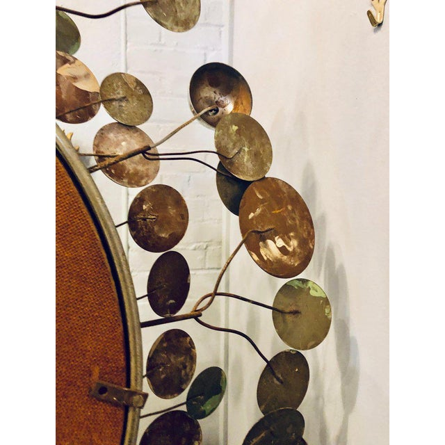 Mid-Century Modern Bamboo Form Frame Mirror with Floating Orbit Spheres For Sale - Image 9 of 12