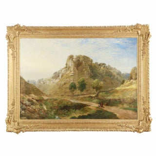 Traditional 19th Century British Landscape Mountain Painting For Sale