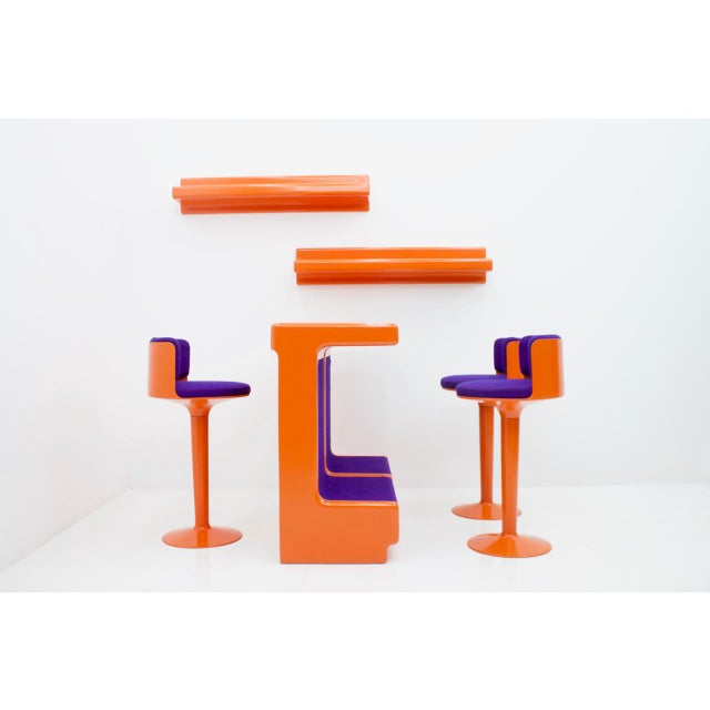 Fiberglass Bar Set by Wolfgang Feierbach, Germany 1974 For Sale - Image 6 of 10