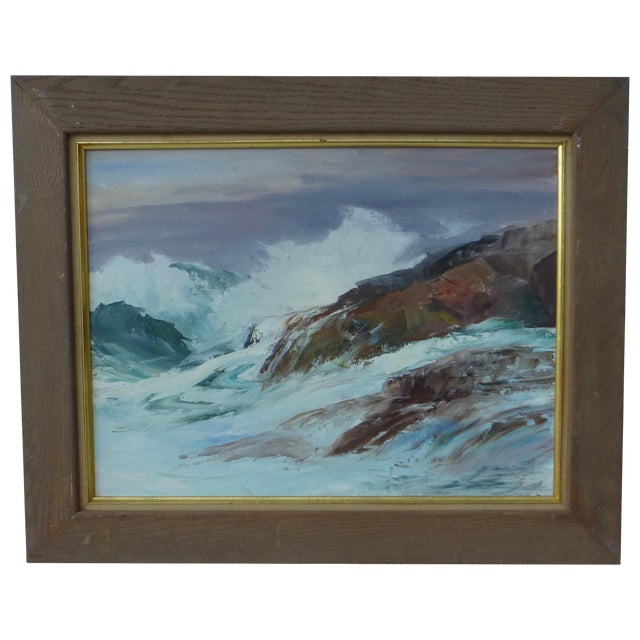 H. L. Musgrave Cape Ann Ocean Painting - Image 1 of 9