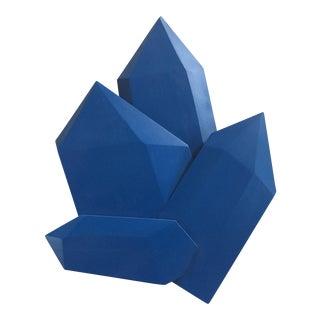 Abstract True Blue Crystals Sculpture