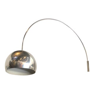 1970s Mid-Century Chrome Arc Light Wall Sconce For Sale