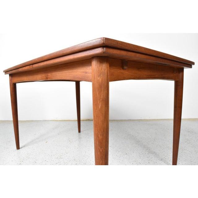 Skovmand & Andersen Mid-Century Skovmand Andersen Teak Dining Table For Sale - Image 4 of 8