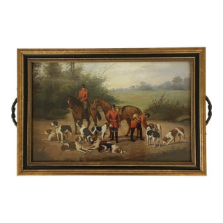 Fox Hunting Glass Tray