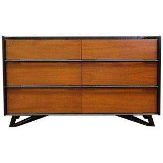 1950s Vintage Mid-Century Modern Robinson 6-Drawer Dresser