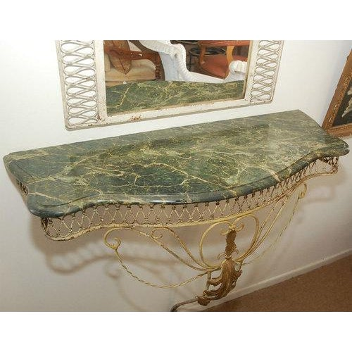 Marble Top Console with Mirror For Sale - Image 4 of 7