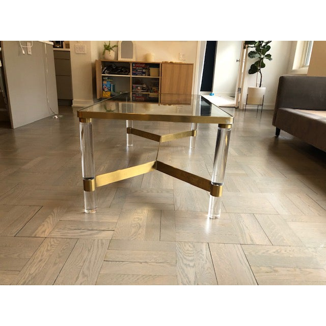 2010s Safavieh Acrylic Coffee Table For Sale - Image 5 of 7