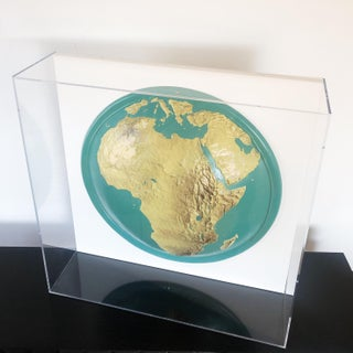 Lucite-Framed Topographical Map of Africa Preview