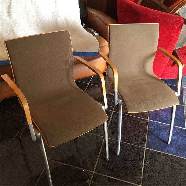 Davis Furniture Industries Brown Chairs - A Pair - Image 2 of 11