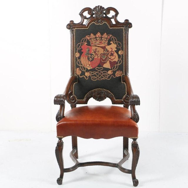 Late 20th Century Vintage Louis XIV Style Armchair For Sale - Image 11 of 11