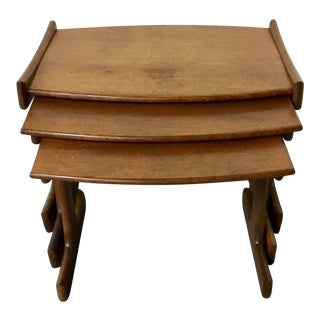 1960's Danish Modern G Plan Teak Nesting Tables - Set of 3 For Sale